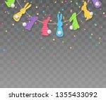 vector horizontally seamless... | Shutterstock .eps vector #1355433092