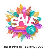 spring summer or autumn sale... | Shutterstock .eps vector #1355437808