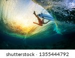Underwater View Of The Surfer...