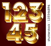 three dimensional golden... | Shutterstock .eps vector #135546896