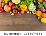 top view of mixed  colorful... | Shutterstock . vector #1355474855