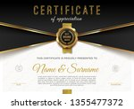 certificate template with... | Shutterstock .eps vector #1355477372