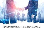 double exposure with business...   Shutterstock . vector #1355486912
