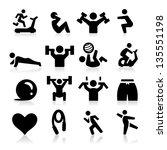 exercising icons | Shutterstock .eps vector #135551198