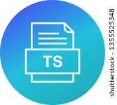 ts file document icon  | Shutterstock .eps vector #1355525348