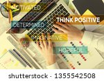 think positive concept | Shutterstock . vector #1355542508