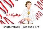kartini day  r a kartini the... | Shutterstock .eps vector #1355551475