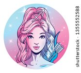 sagittarius zodiac sign artwork ... | Shutterstock . vector #1355552588