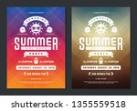 summer party design poster or... | Shutterstock .eps vector #1355559518