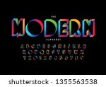 vector of stylized modern font... | Shutterstock .eps vector #1355563538