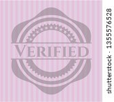 verified badge with pink... | Shutterstock .eps vector #1355576528