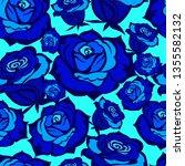 vector seamless floral pattern... | Shutterstock .eps vector #1355582132