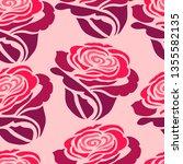 vector seamless floral pattern... | Shutterstock .eps vector #1355582135