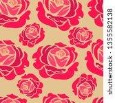 vector seamless floral pattern... | Shutterstock .eps vector #1355582138