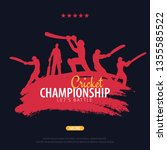cricket championship banner or... | Shutterstock .eps vector #1355585522