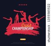 cricket championship banner or... | Shutterstock .eps vector #1355585522
