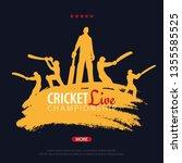 cricket championship banner or... | Shutterstock .eps vector #1355585525