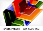 abstract glossy techno arrows... | Shutterstock .eps vector #1355607452