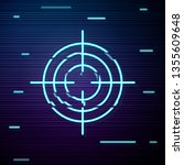 glitch screen with target aim... | Shutterstock .eps vector #1355609648