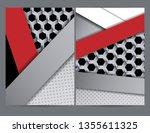 annual modern report | Shutterstock . vector #1355611325