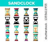 sandclock icon set vector....