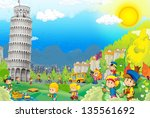 the iconic and historical... | Shutterstock . vector #135561692