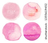 pink watercolor circle... | Shutterstock .eps vector #1355619452