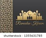 ramadan kareem islamic... | Shutterstock .eps vector #1355631785