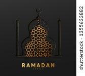 ramadan vector background....   Shutterstock .eps vector #1355633882