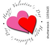 valentine's day hearts | Shutterstock . vector #1355635