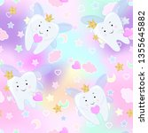 tooth fairy. vector cartoon... | Shutterstock .eps vector #1355645882