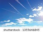 vector landscape sky clouds.... | Shutterstock .eps vector #1355646845
