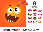 cartoon cute silly creature... | Shutterstock .eps vector #1355649095