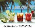 cocktail rum and coke mojito... | Shutterstock . vector #135565226