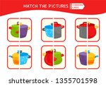 matching children educational... | Shutterstock .eps vector #1355701598