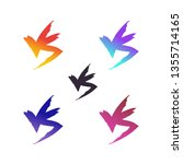 versus vector icon set isolated ... | Shutterstock .eps vector #1355714165