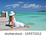 Girl On The Wooden Jetty...