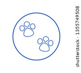 paws icon. vector illustration | Shutterstock .eps vector #1355749508