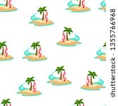 pattern with sunny seascape... | Shutterstock .eps vector #1355766968
