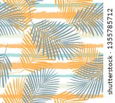 tropical pattern  palm leaves... | Shutterstock .eps vector #1355785712