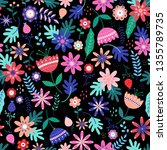 seamless floral pattern in... | Shutterstock .eps vector #1355789735