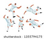soccer players in action.... | Shutterstock .eps vector #1355794175
