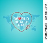 world health day concept world... | Shutterstock .eps vector #1355810345