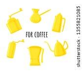 vector set of accessories for... | Shutterstock .eps vector #1355821085