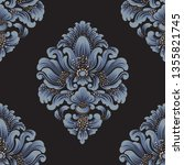vector damask seamless pattern... | Shutterstock .eps vector #1355821745