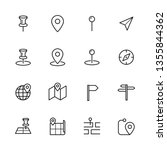 map navigation icons set | Shutterstock .eps vector #1355844362