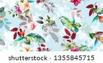wide vintage seamless... | Shutterstock .eps vector #1355845715