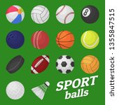 ball game set. sport and games... | Shutterstock .eps vector #1355847515