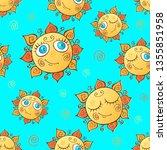 cheerful children's seamless... | Shutterstock .eps vector #1355851958