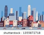 big city life. panoramic view... | Shutterstock .eps vector #1355872718